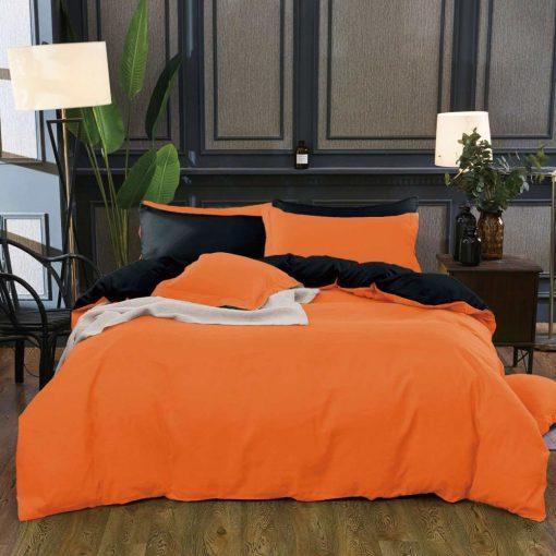 Bolly Nagy Paplanos Ágynemű Narancs Szürke 6 részes
