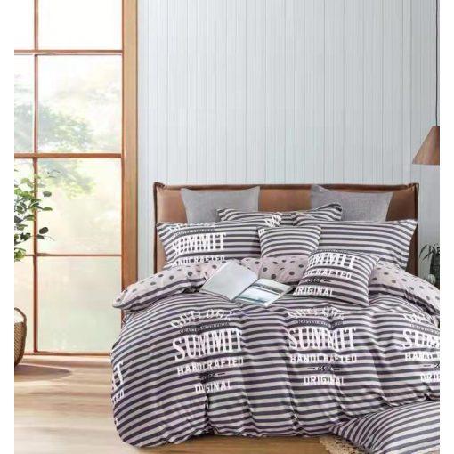 Anrita virágmintás pamut ágyneműhuzat garnitúra 3 részes szürke púder