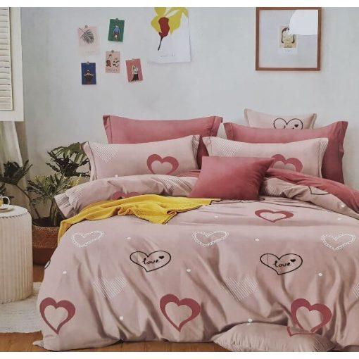 Kirilla piros fehér pöttyös pamut ágyneműhuzat 3 részes