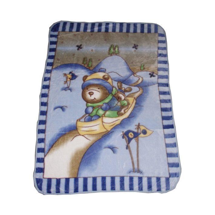 Mici Maci és Nyuszkó kék fehér gyerek Ágytakaró Pléd 100x140cm