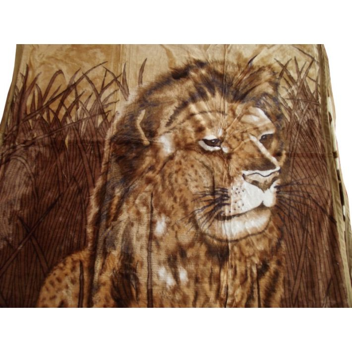 Király Oroszlán pléd ágytakaró barna 150x200 cm