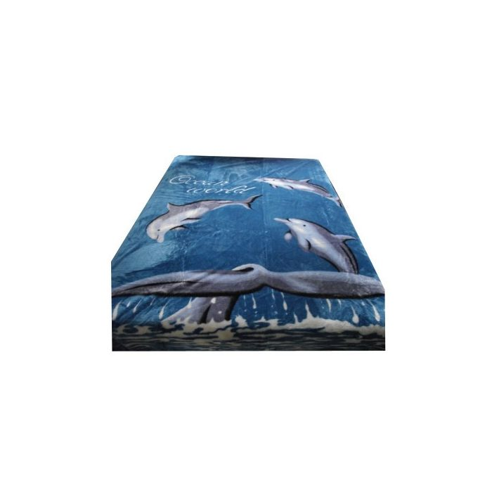 Medárda Kék Delfines Pléd, Ágytakaró 150 x 200 cm