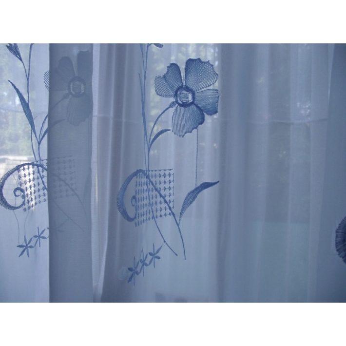 Vera Kék Organza függöny - készre varrt 250 x 300 cm