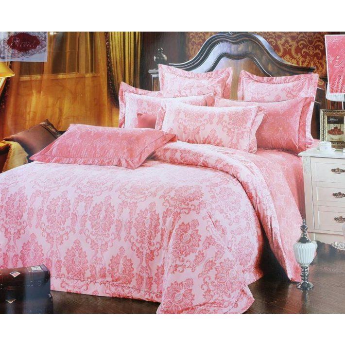 Smiss pink-rózsaszín pamut ágynemű garnitúra 6 részes