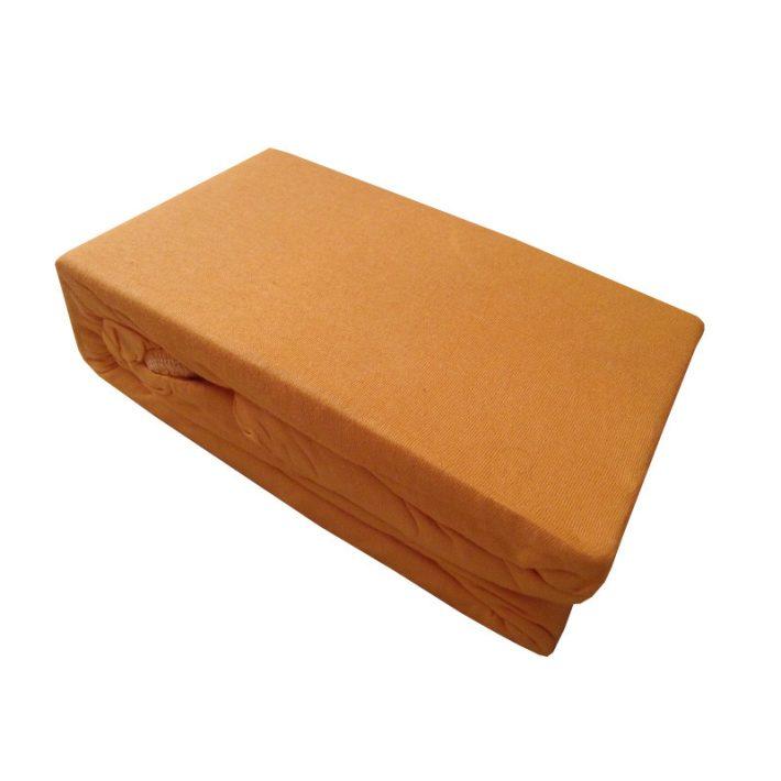 Tarzicia finom Narancs Pamut Gumis Lepedő 100 x 200 cm