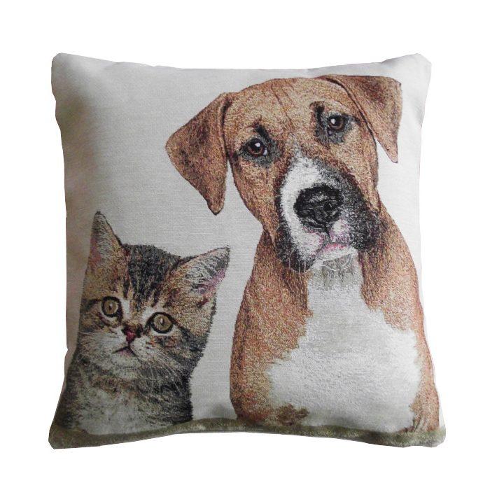 Kutyus és Cica díszpárna