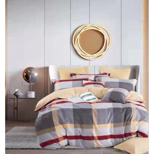 Rózsaablak pamut ágyneműhuzat garnitúra szürkészöld 3 részes