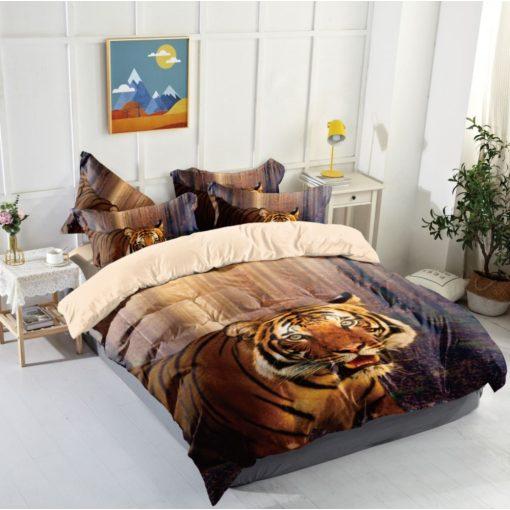 Macsek 3 cicás ágyneműhuzat garnitúra 7 részes bézs