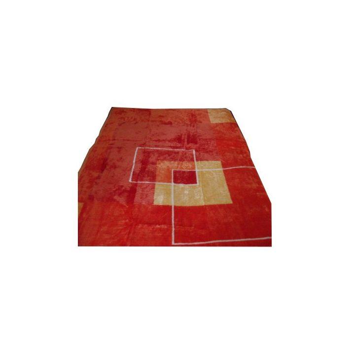Zola Bézs Narancssárga Ágytakaró Pléd 200 x 240 cm