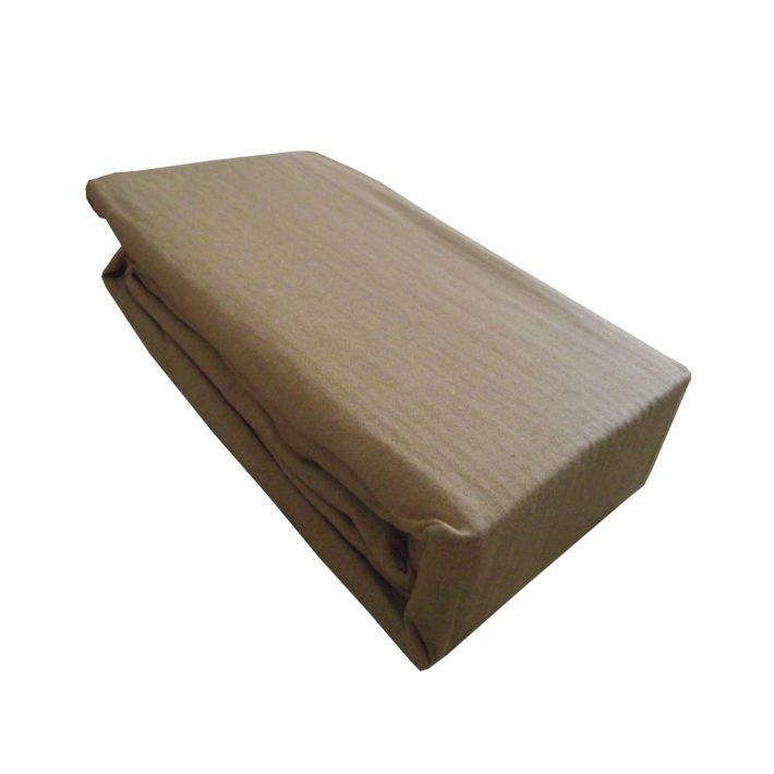 Szamíra cappuccino gumis pamut lepedő 100 x 200 cm