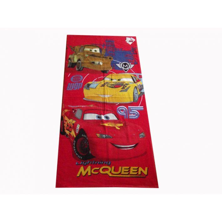 McQueen and the Cars piros Disney Törölköző 70x140cm
