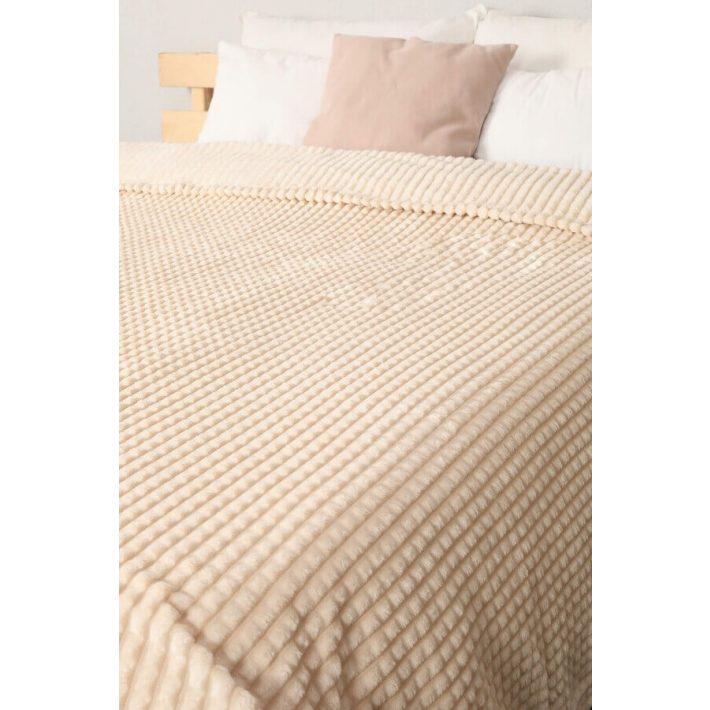 Kagyló Barna Krém Pléd Ágytakaró 150 x 200 cm