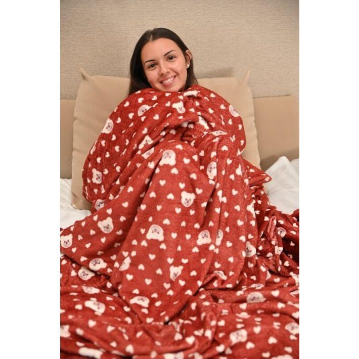 Nikolett Krém Szürke Ágytakaró 240 x 240cm