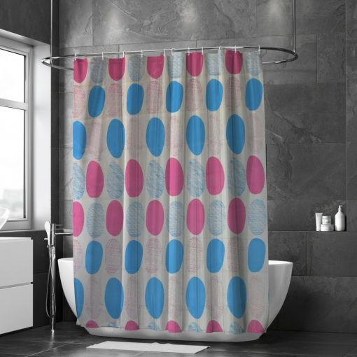 Adina rózsaszín kék modern zuhanyfüggöny 180 x 180 cm