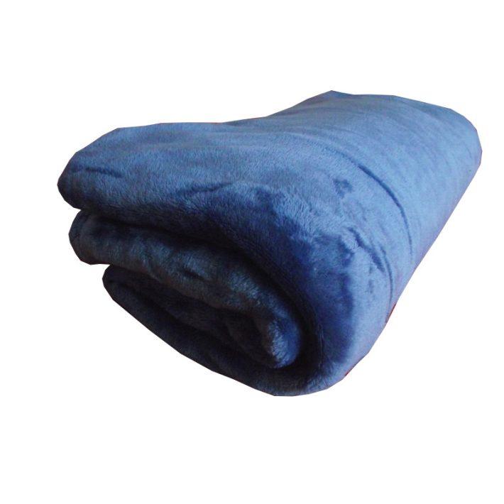 Harangfű  Kék Pléd Takaró Mikrószálas