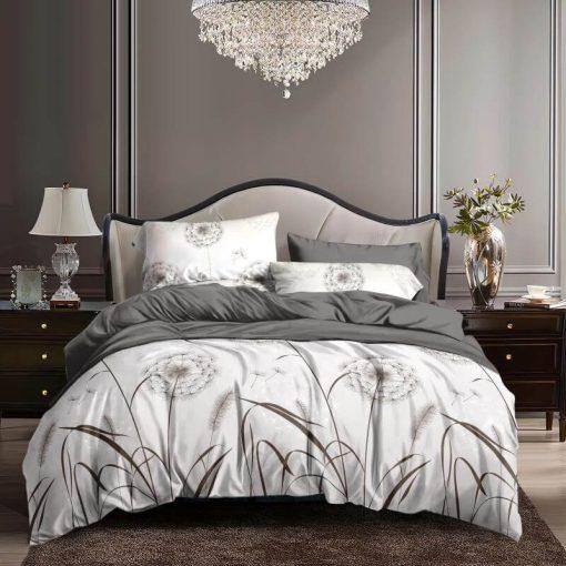 Narancs margaréta mintás ágynemű garnitúra