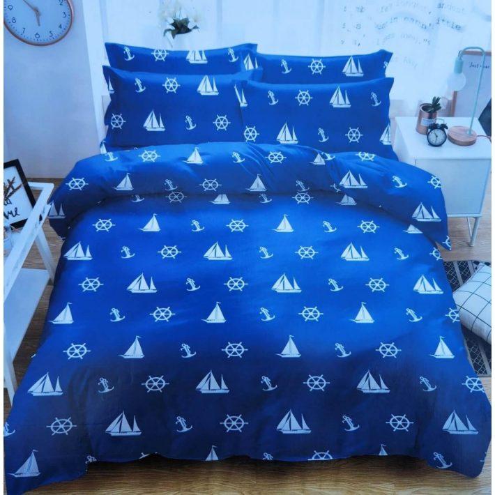 Citadella Piros pöttyös pamut ágynemű garnitúra 3 részes