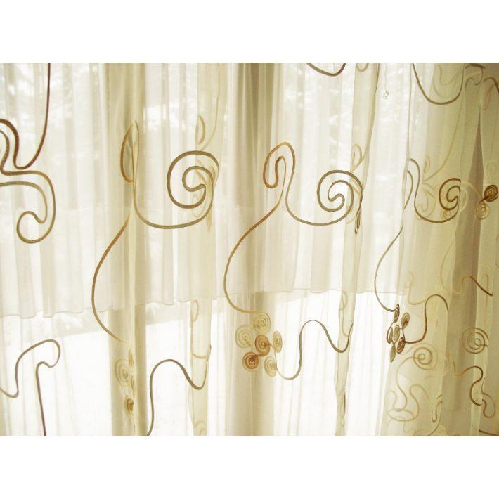 Noémi Arany Bézs Organza függöny - készre varrt 250 x 300 cm