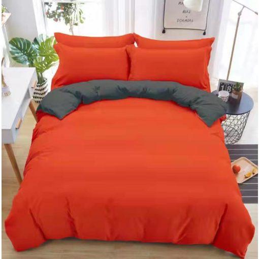 Anglia fekete bordó pamut ágynemű garnitúra 3 részes