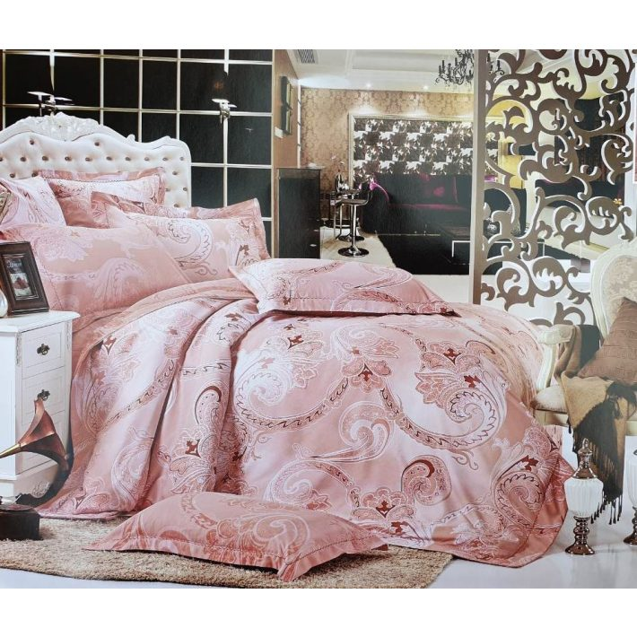 Romantic Rózsaszín Pamut Ágyneműhuzat Garnitúra 6 részes