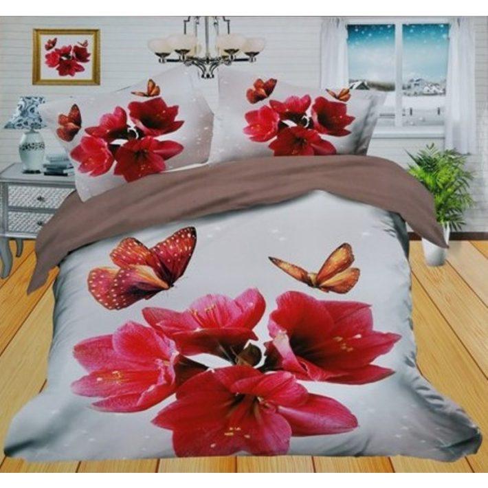 Szerelmes virág ágyneműhuzat Valentin napra