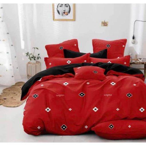 Cezarina Piros Modern Ágynemű 6 részes Nagy paplanos