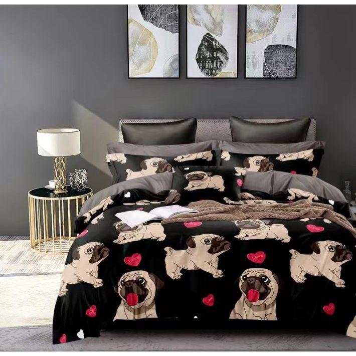 Rózsaszín Lila ágyneműhuzat garnitúra gyerekeknek 7 részes