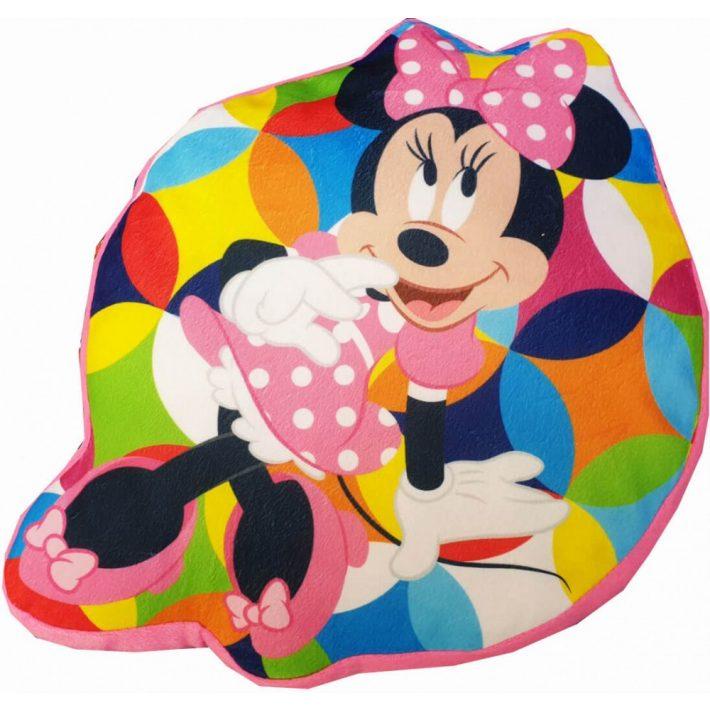 Disney Minnie Egér Formapárna Pink Színben 39 x 29 cm