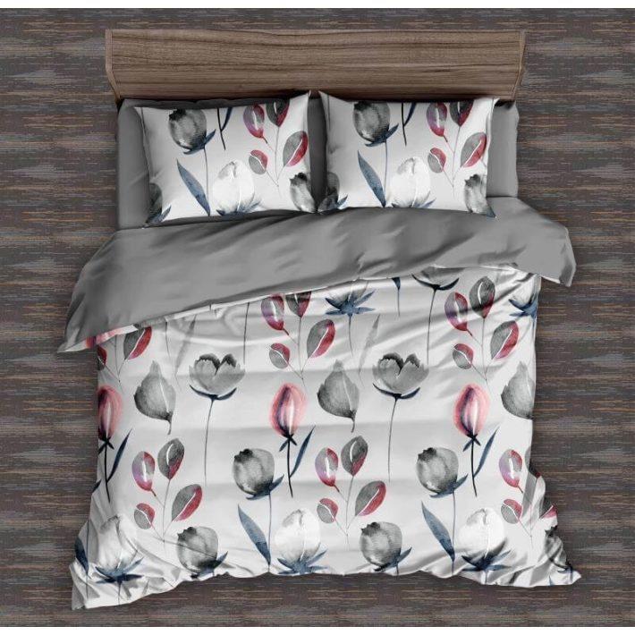 Fehér rózsaszín krepp ágynemű garnitúra