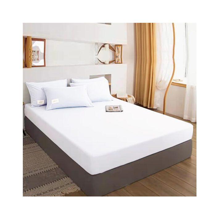 Dolores Fehér pamut gumis lepedő 100 x 200 cm