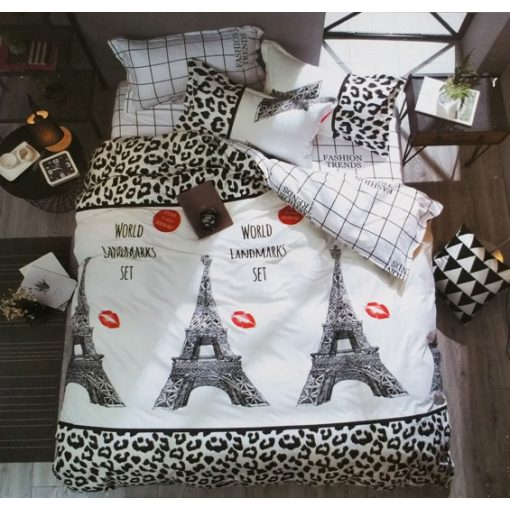 Eiffel torony Párizs ágyneműhuzat pamut 7 részes