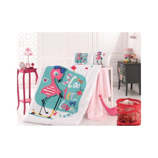 Flamingó 100% Pamut Ovis Gyerek Ágyneműhuzat 2 részes 90 x 135 cm