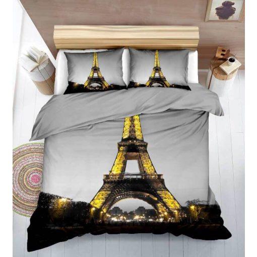 3D Párizs Eiffel Torony Ágyneműhuzat 3 részes pamut