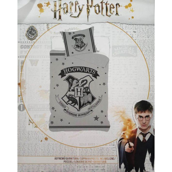Harry Potter Ágynemű Garnitúra Szürke Fekete 140 x 200 cm