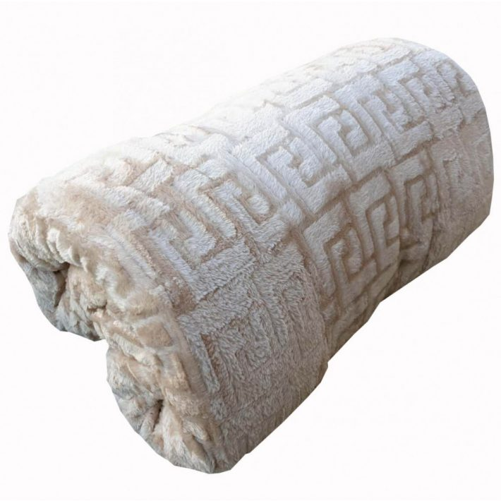 Izabella Cappuccino Vastag Plüss Takaró Pléd 200 x 230 cm