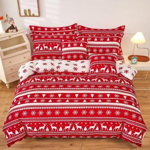 Konrád virágos pamut ágynemű garnitúra 7 részes