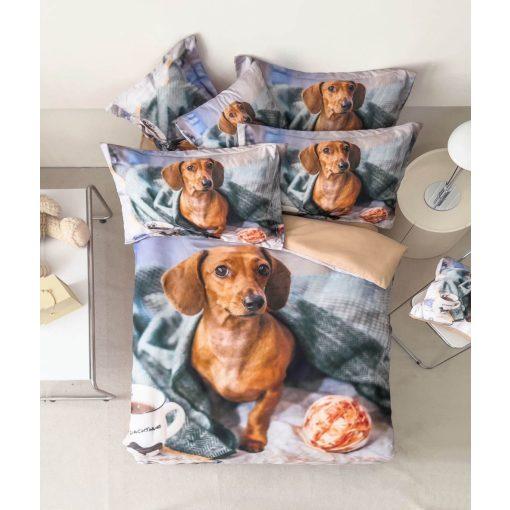 Malibu 3d Virágmintás Pamut Ágynemű garnitúra bézs 3 részes