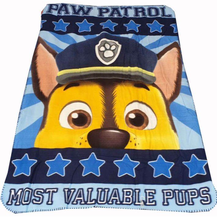 Mancs Őrjárat Pléd Paw Patrol Polár Takaró Kék Színben 100 x 150 cm
