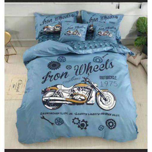 Iron Motoros gyerek ágyneműhuzat pamut 3 részes