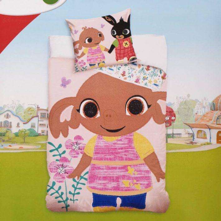100% Pamut Bing Nyuszi Ovis Gyerek Ágynemű 2 részes 100 x 135 cm