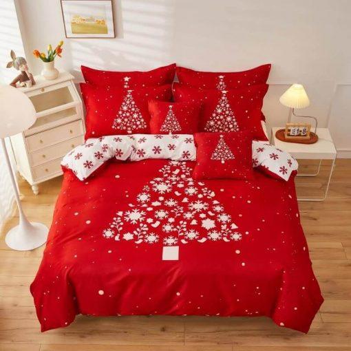 Piros Rudolf Karácsonyi Ágyneműhuzat pamut 6 részes nagy paplanos