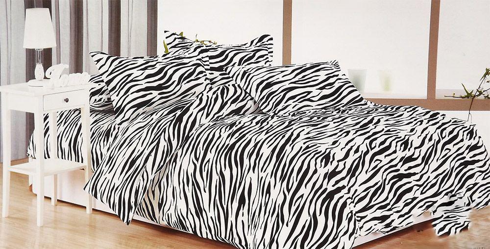 Zebra mintás 6 részes ágynemű garnitúra Ágyneműhuzat