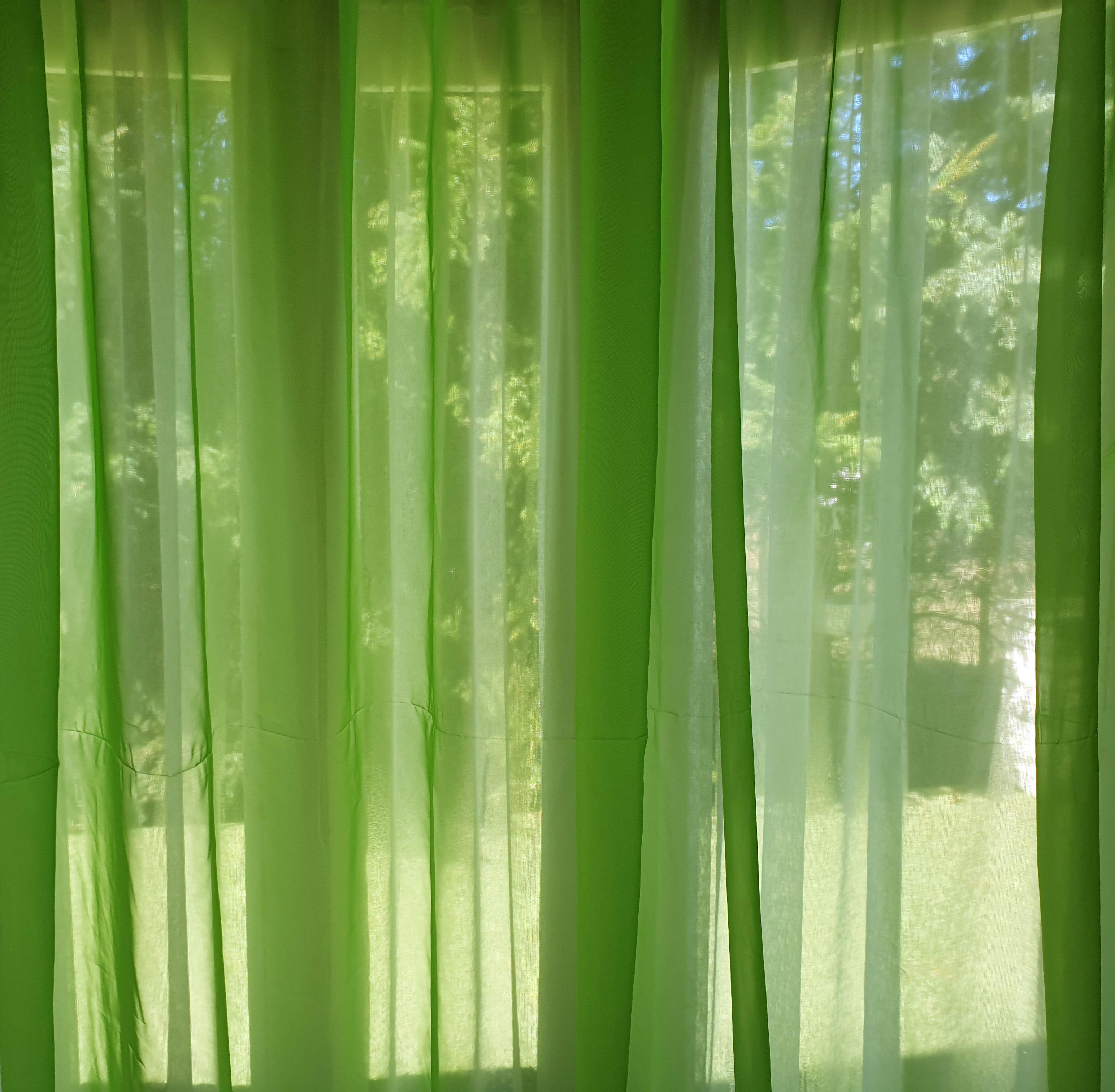 zöld függöny